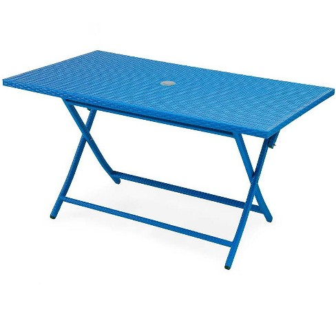 Tangier Rectangle Wicker Folding Table - Plow & Hearth - image 1 of 2