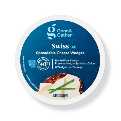 Swiss Flavor Spreadable Cheese Wedges - 4oz - Good & Gather™