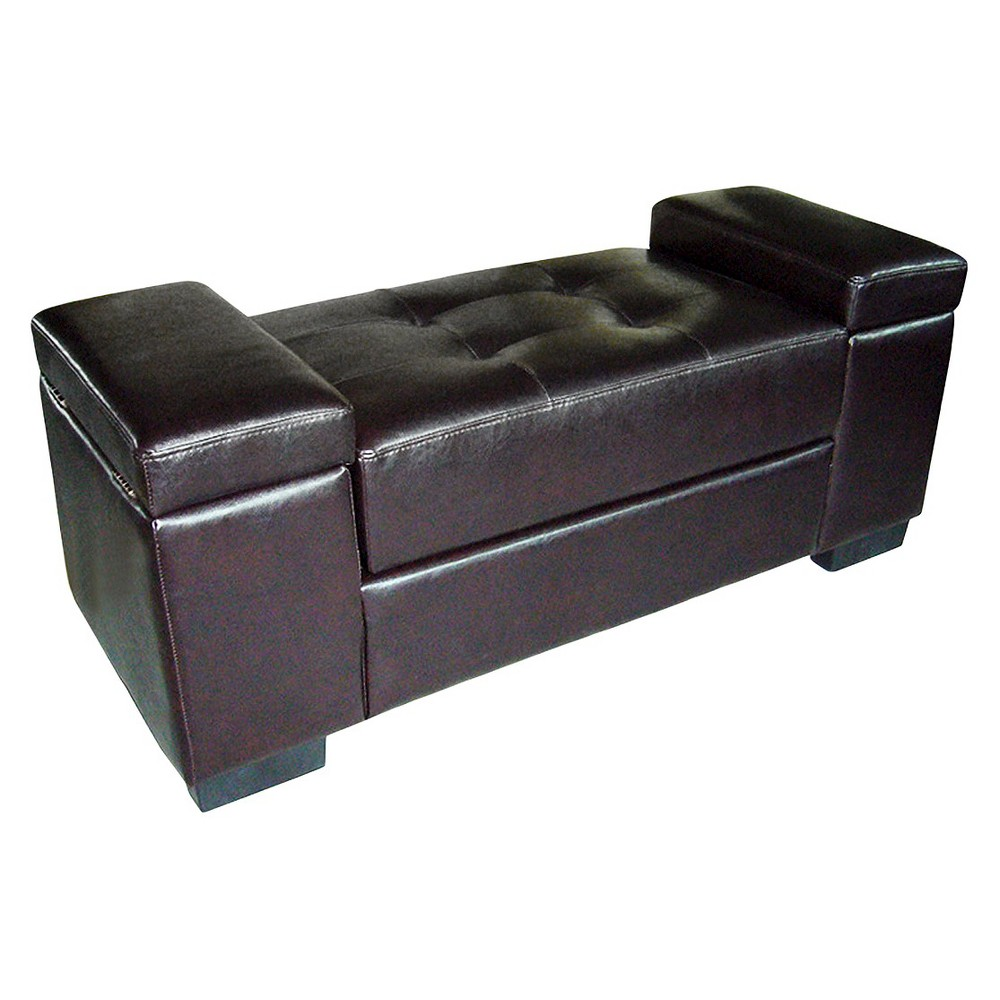 Open Storage Bench Dark Brown Ore International