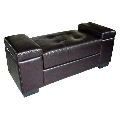 Open Storage Bench Dark Brown - Ore International - image 1 of 1