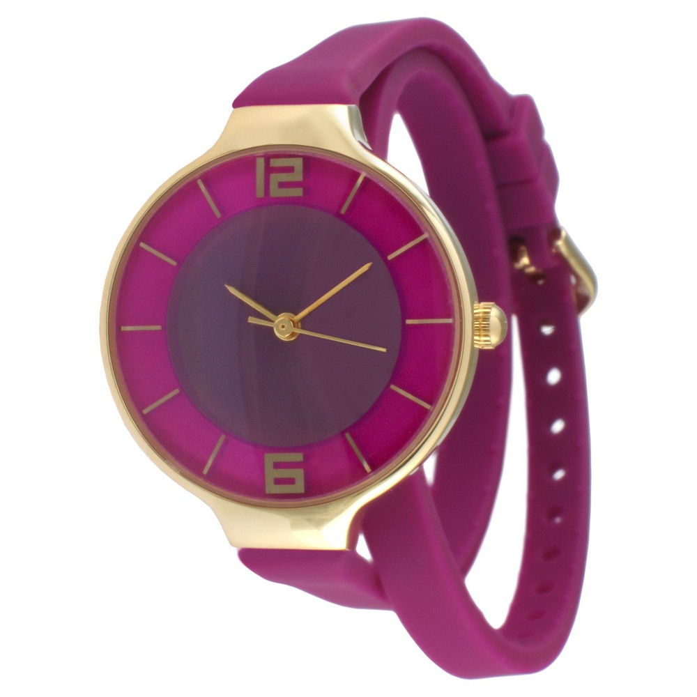 Women's Tko Rubber Double Wrap Watch - Purple