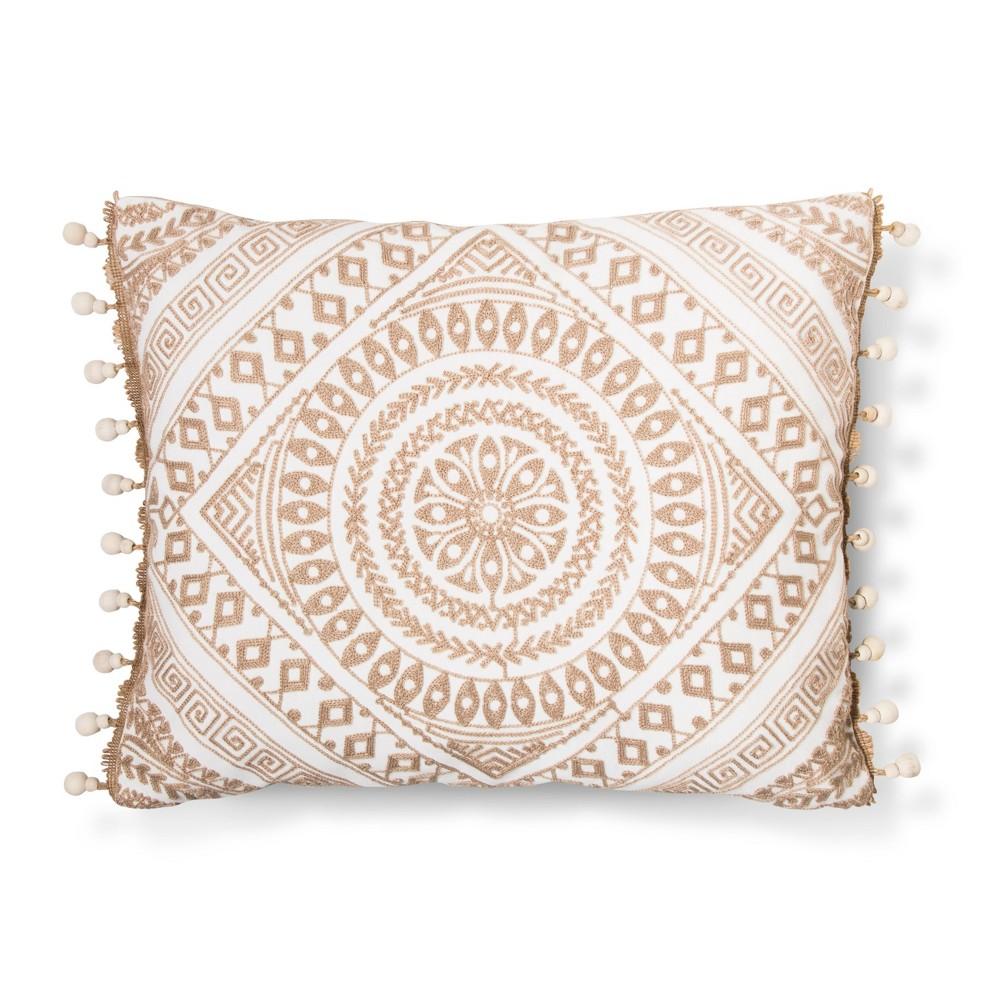 Image of Cream (Ivory) Medallion Throw Pillow - Mudhut