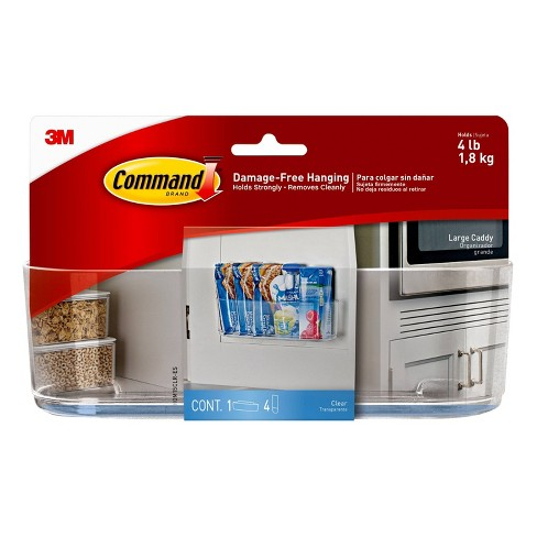 Command Shower Caddy 7 Lb Plastic Clear