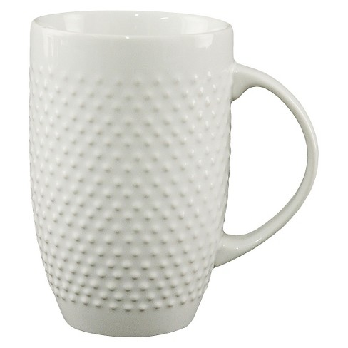 All Over Beaded Mug 20oz - White - Threshold™ - image 1 of 1