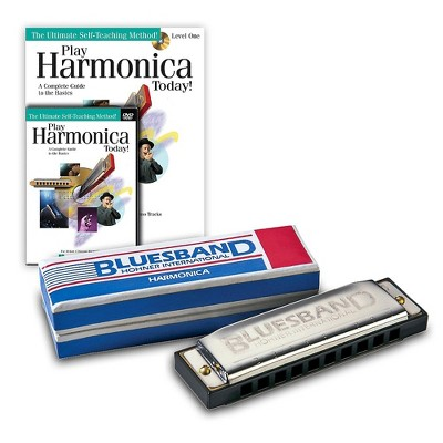 Hohner Blues Band 1501 C Harmonica and Play Harmonica Today! Pack Kit C