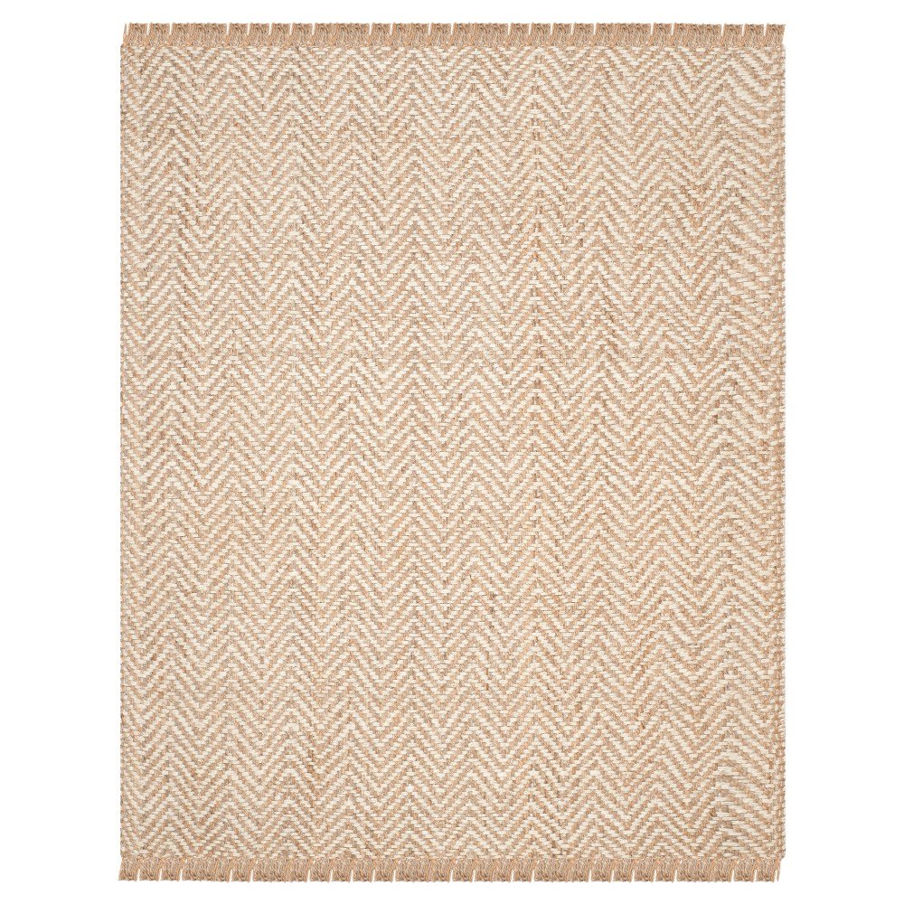Halden Natural Fiber Area Rug - Bleach / Natural (9' X 12') - Safavieh, Beige