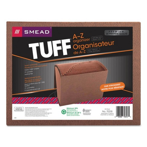 Smead Heavy-Duty A-Z Accordion Expanding File Folders, 21 Pocket, Letter, Leather-Like Redrope - image 1 of 3