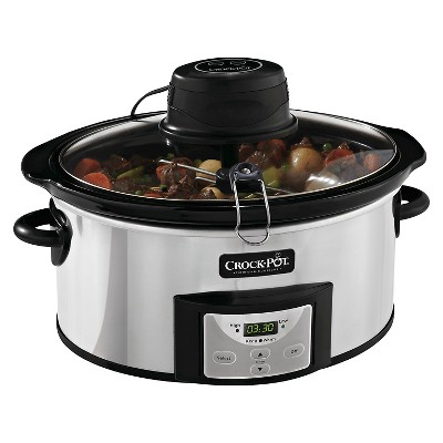 Crock-Pot® 6 Qt. Digital Slow Cooker with iStir™ Stirring System - SCCPVC600AS-P