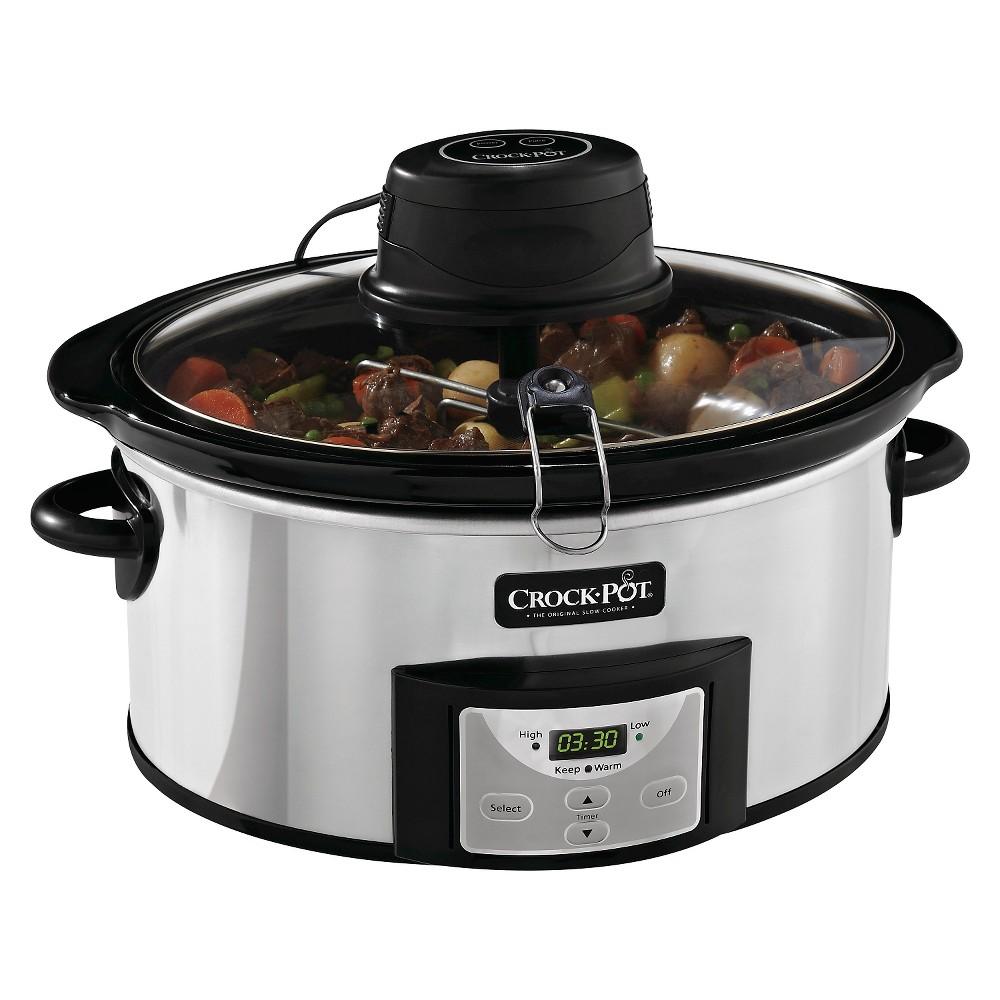 Crock-Pot 6 Qt. Digital Slow Cooker with iStir Stirring System - SCCPVC600AS-P, Grey