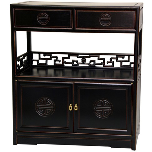 Rosewood Long Life Display Cabinet - Oriental Furniture - image 1 of 3