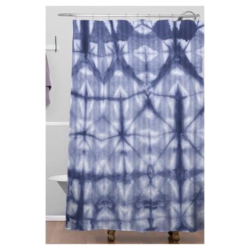 Tie Dye Design Shower Curtain Blue
