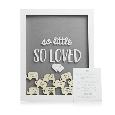Pearhead Little Wishes Signature Guestbook Photo Frame - Gray/White - image 1 of 4