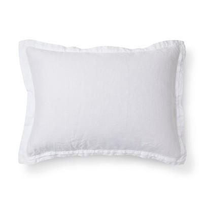 White Lightweight Linen Pillow Sham (King)- Fieldcrest®