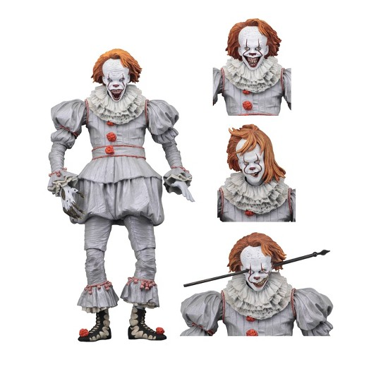 """Hot NECA IT Ultimate Pennywise Clown Action Figure Movie Doll 2017 New Scale 7/"""""""