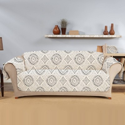 Medallion Printed Sofa Furniture Protector Cover - Sure Fit