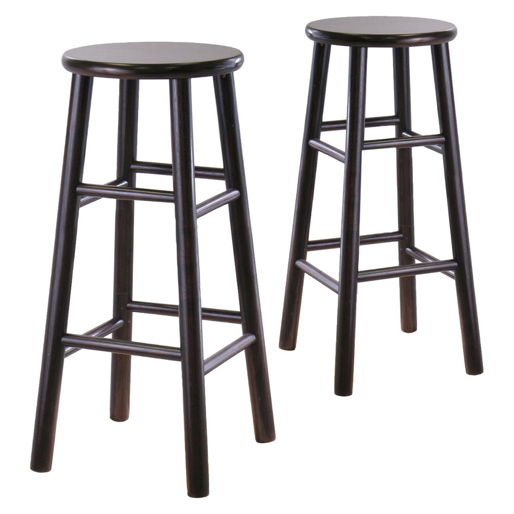 30 Tabby 2pc Bar Stool Set - Espresso Brown - Winsome