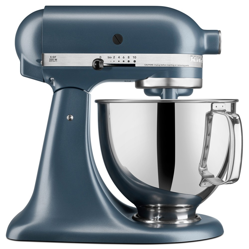 KitchenAid Refurbished 5qt Artisan Stand Mixer Blue Steel - RRK150BS, Blue Silver