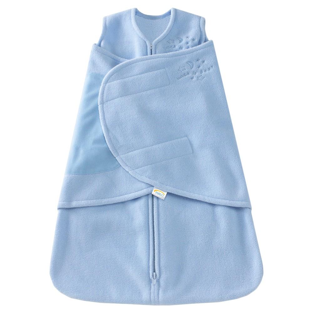 Halo Innovations Sleepsack Micro Fleece Swaddle Baby Blue S