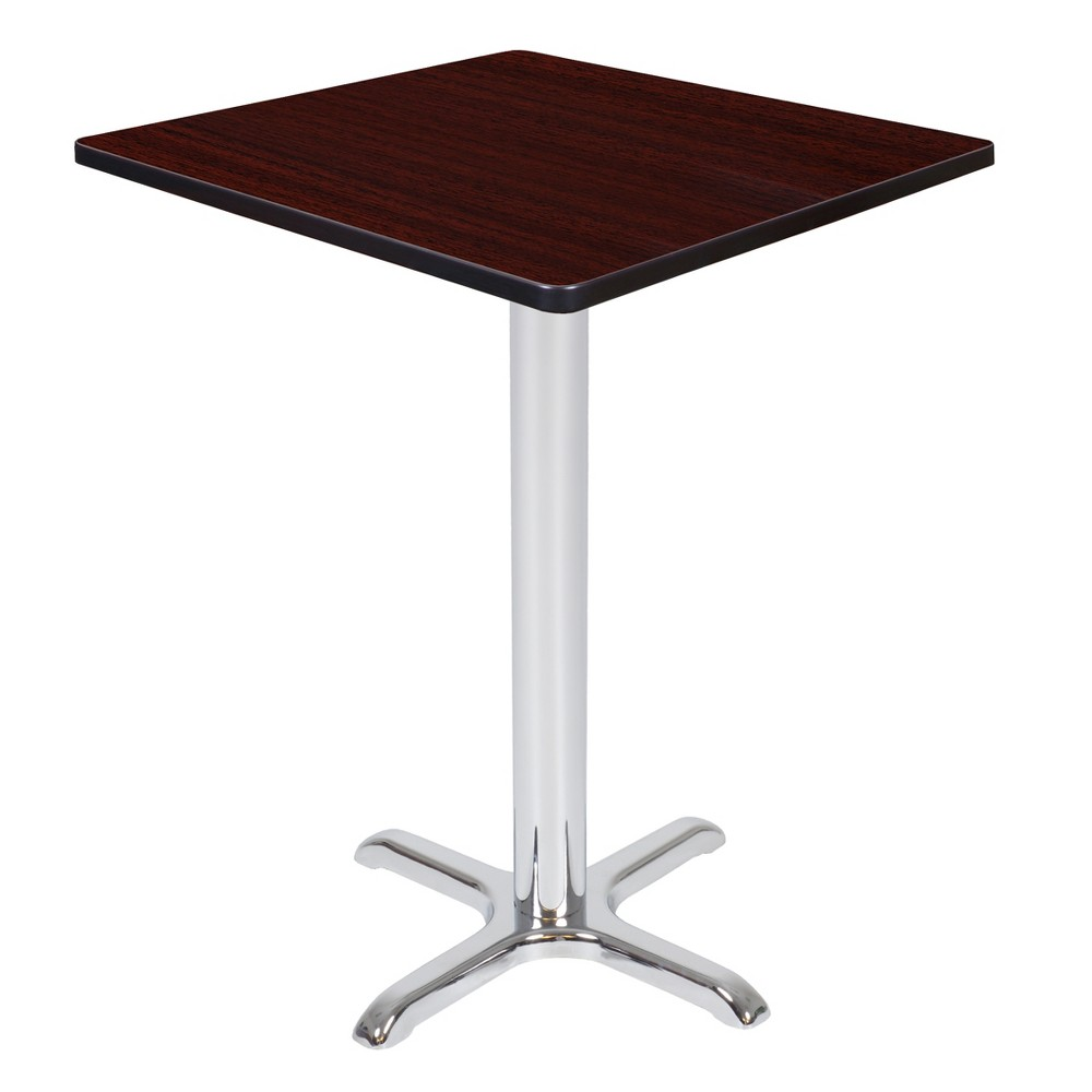 30 Via Cafe High Square X - Base Table Mahogany/Chrome (Brown/Grey) - Regency