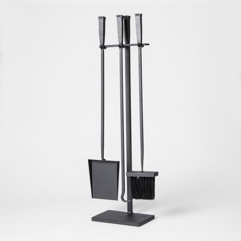 4pc Fireplace Iron Tool Set Black - Smith & Hawken™ - image 1 of 1