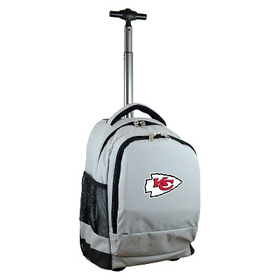 NFL Kansas City Chiefs Premium Wheeled Backpack - Gray