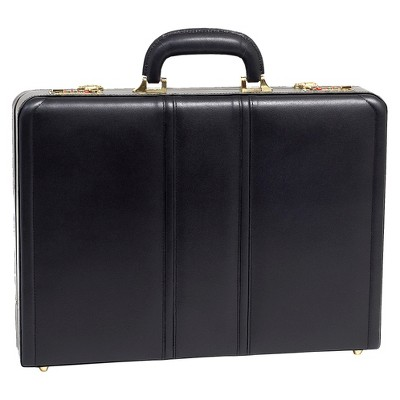"McKlein Daley Leather 3.5"" Attache Briefcase - Black"