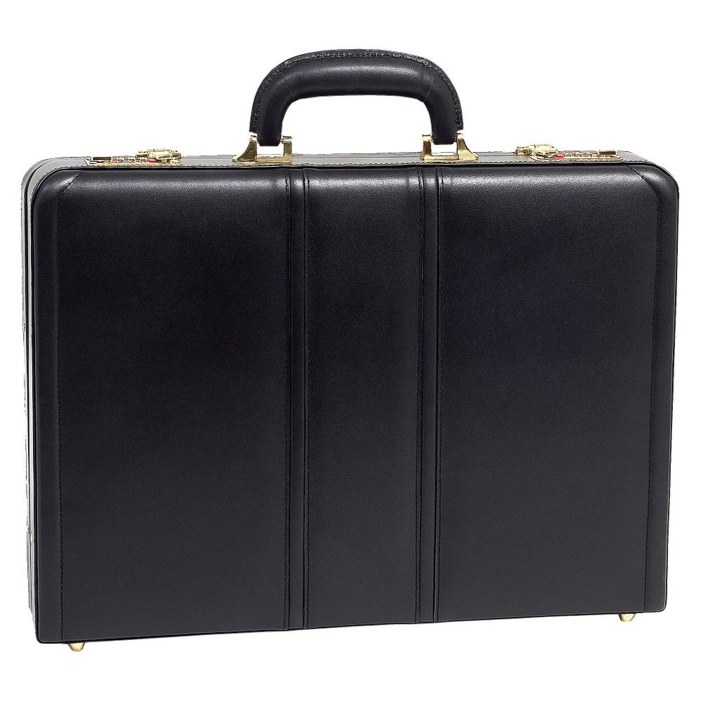 "Image of ""McKlein Daley Leather 3.5"""" Attache Briefcase - Black"""