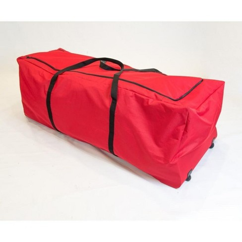 Christmas Tree Rolling Storage Bag.Tree Keeper 56 Red Heavy Duty Rolling Artificial Christmas Tree Storage Bag For 6 8 Trees
