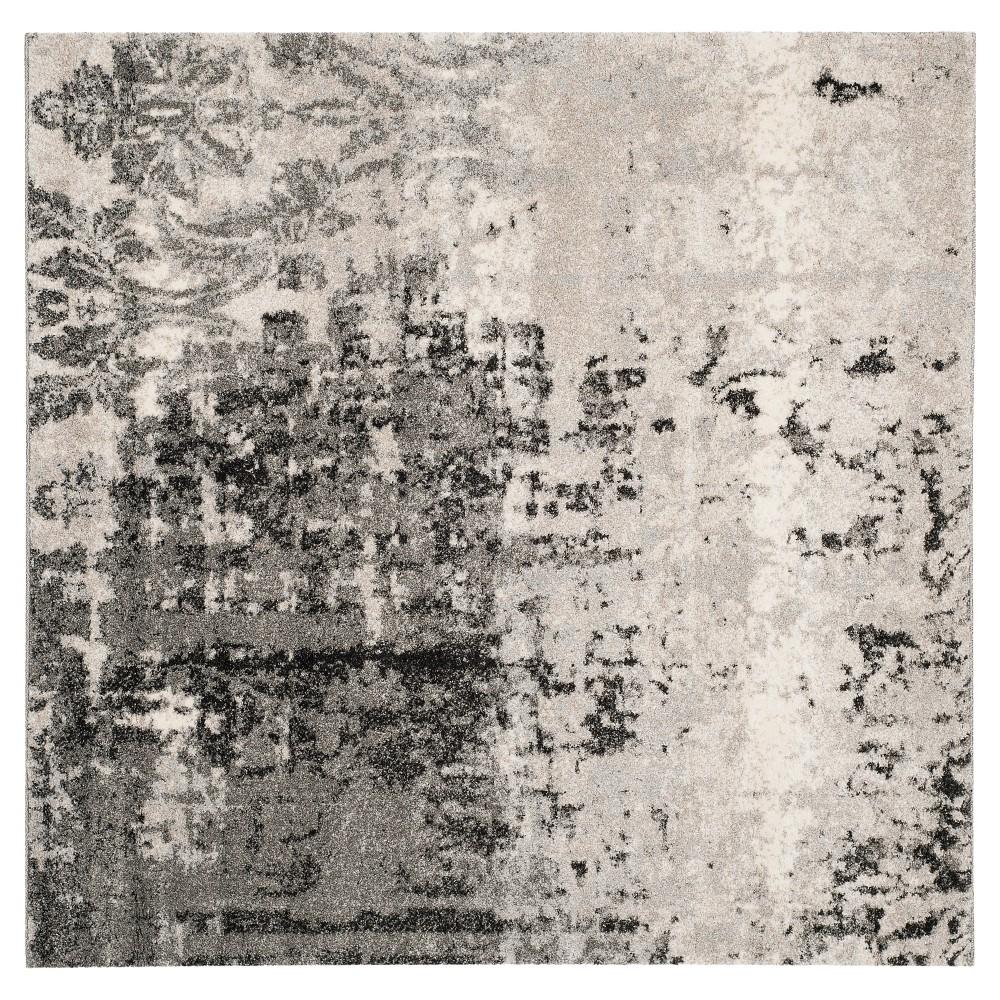 Kensington Area Rug - Light Gray / Gray ( 6' X 6' Square ) - Safavieh