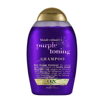 OGX Blonde Enhance Purple Fig & Iris Toning Shampoo - 13 fl oz