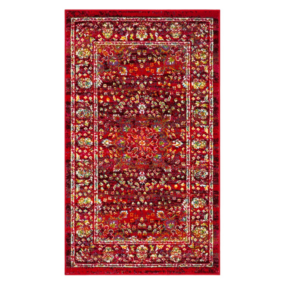 3X5 Medallion Loomed Accent Rug Red/Red - Safavieh Reviews