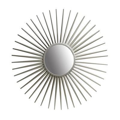 """36"""" Sunray Wall Accent Mirror Silver - Patton Wall Decor"""