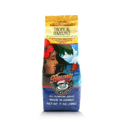 Hawaiian Isles Tropical Hazelnut Medium Roast Ground Coffee - 7oz