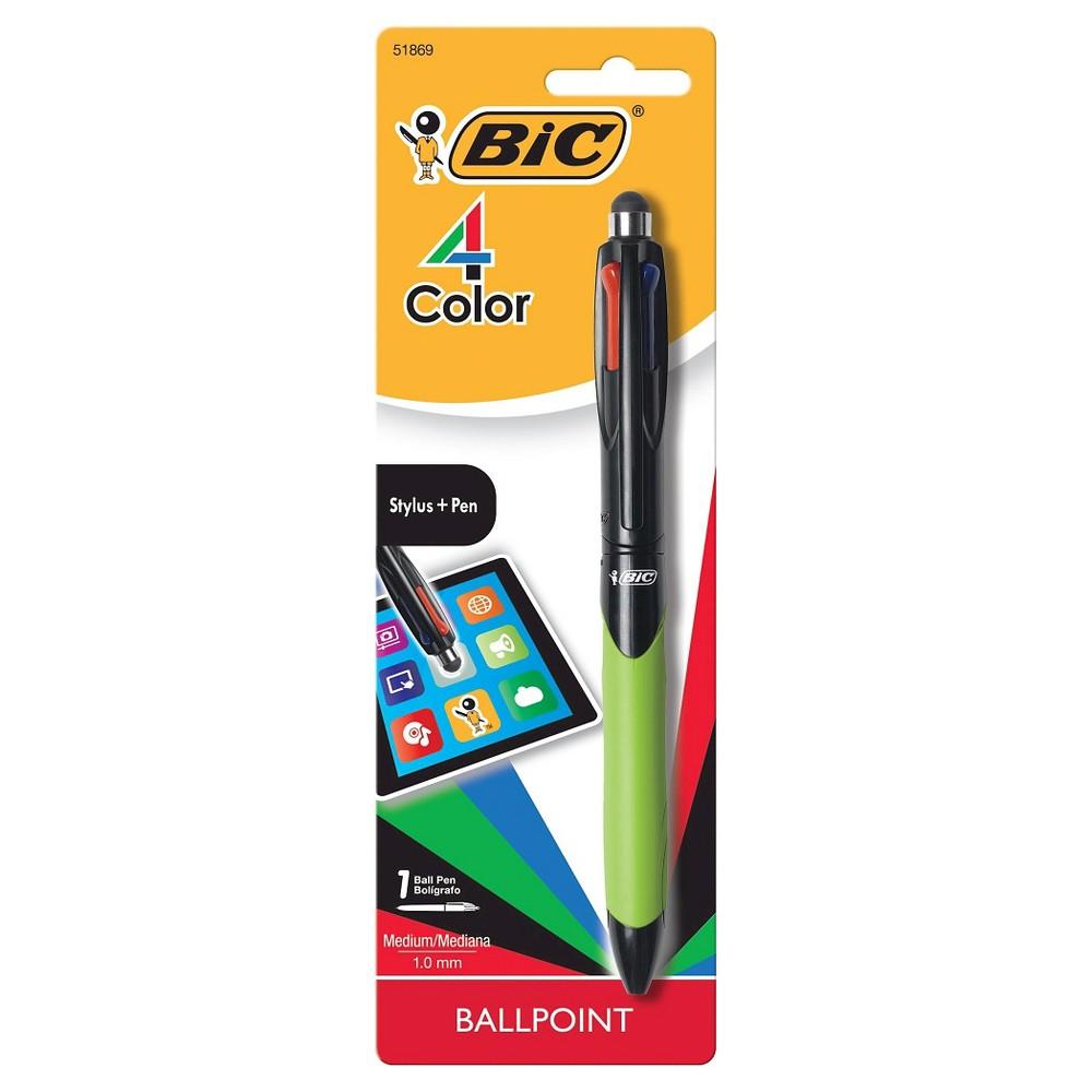 Bic 4-Color Stylus Pen, Multi-Colored