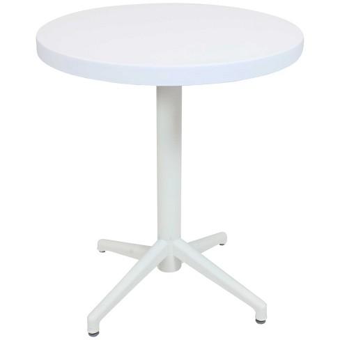 Round 28 All Weather Plastic Indoor Outdoor Folding Patio Table Tan Sunnydaze Decor Target