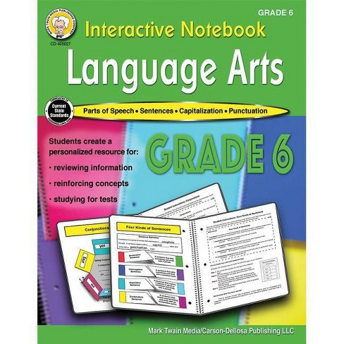 Interactive Notebook: Language Arts Resource Book, Grade 6 - by  Schyrlet Cameron & Carolyn Craig - image 1 of 1