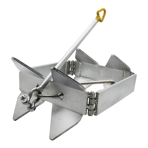 Extreme Max 3006.6652 Adjustable Heavy Duty Maximum Hold Box Style BoatTector Zinc Plated Cube Anchor with Release - image 1 of 4