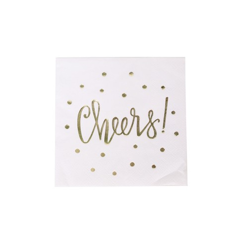 "20ct ""Cheers"" Beverage Napkin - Spritz™ - image 1 of 2"