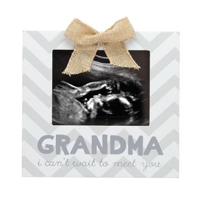Pearhead  Grandma, I Can't Wait to Meet You  Sonogram Single Image Frame - Gray