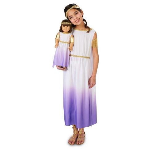 34cb35fc342 Girls  Purple Passion Greek Goddess Costume With Matching 18