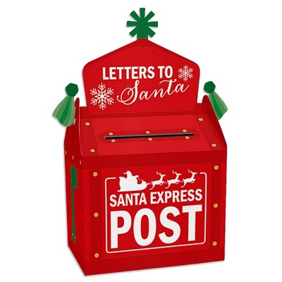 Big Dot of Happiness Santa's Special Delivery - Treat Box Party Favors - From Santa Claus Christmas Goodie Gable Boxes - Set of 12
