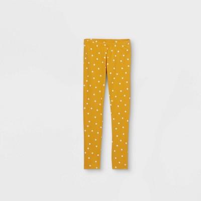 Girls' Dot Leggings - Cat & Jack™ Mustard