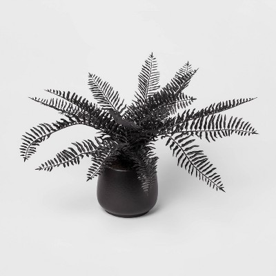 28  x 16  Artificial Fern Arrangement in Ceramic Pot Black - Threshold™