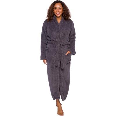 Silver Lilly Womens Luxury Sherpa Robe