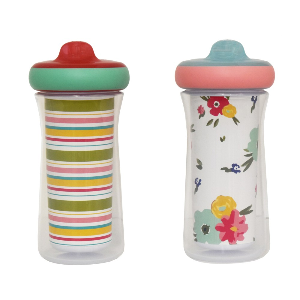 The First Years 2pk Insulated Sippy Cups - 12+m - Pink, Multi-Colored