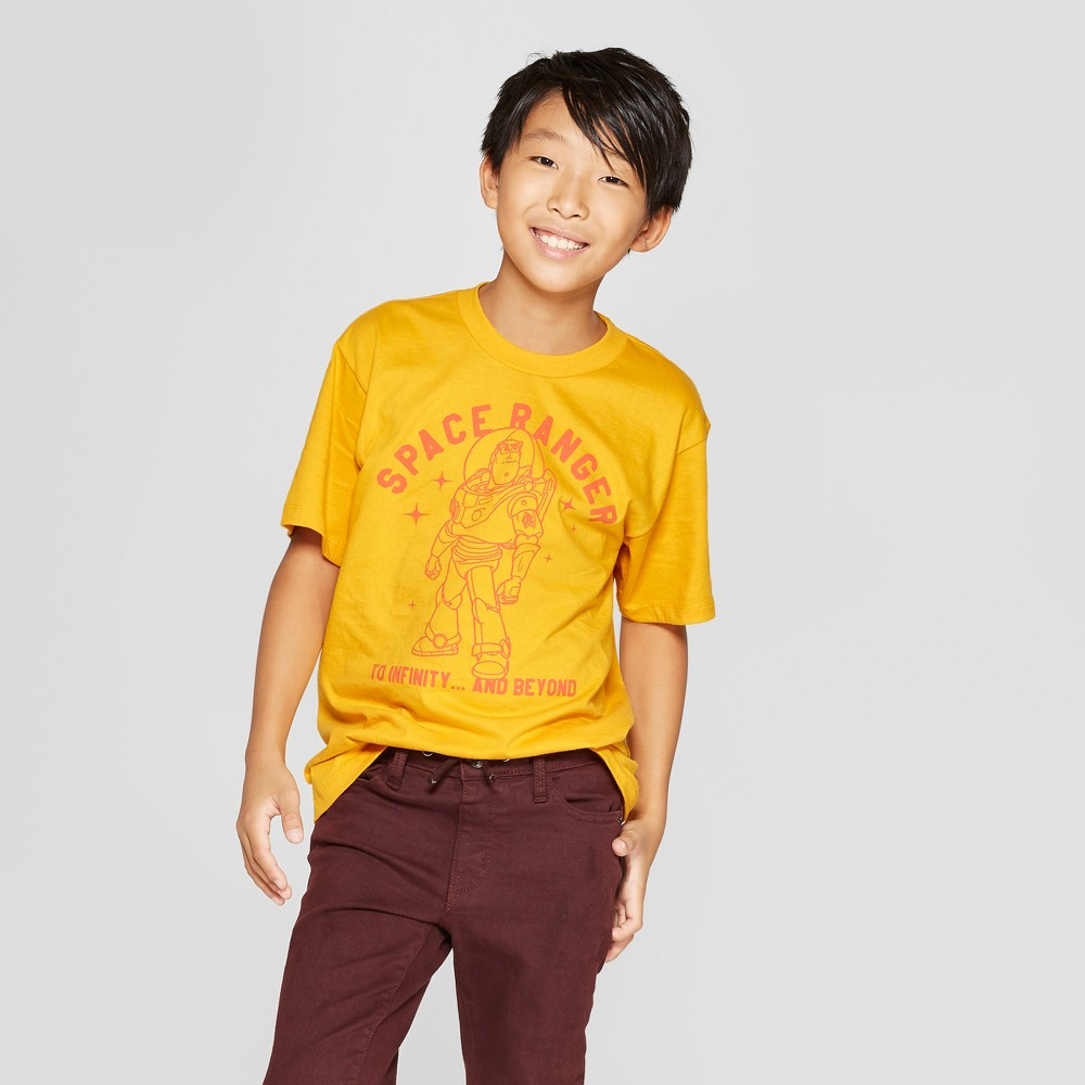 Boys' Buzz Lightyear Space Ranger Short Sleeve Graphic T-Shirt - Yellow XL