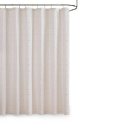 Kay Cotton Pom-Pom Shower Curtain Ivory