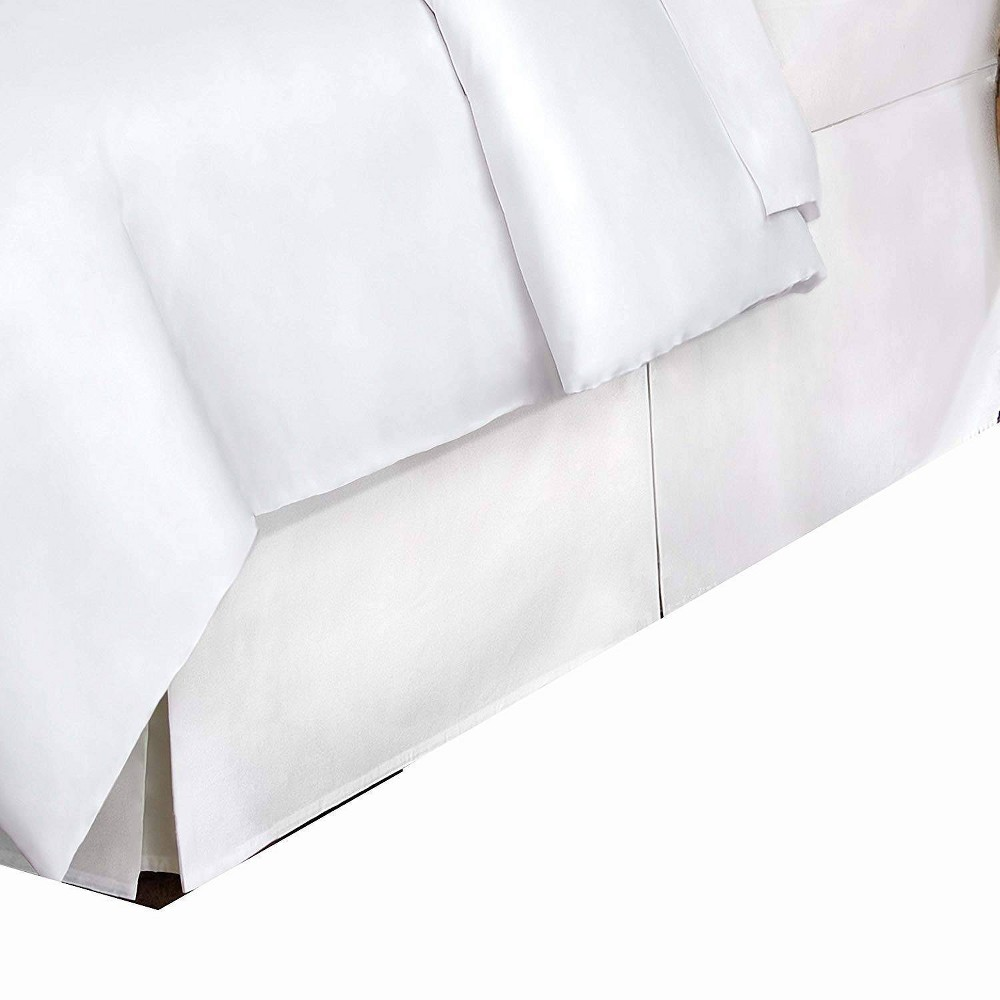 Image of Full 400 Thread Count Bedskirt White - Belles & Whistles