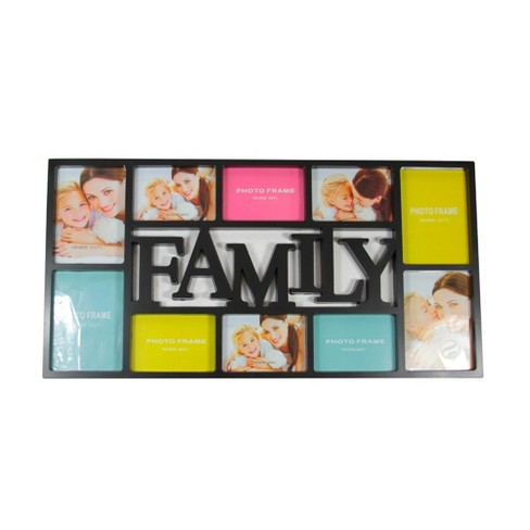 "Northlight 28.75"" Black Dual-Sized 'Family' Collage Picture Frame - image 1 of 2"