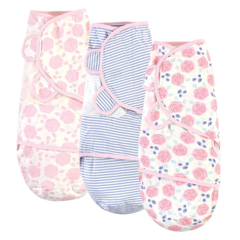 Touched By Nature Unisex Baby Organic Cotton Swaddle Wrap Pink Rose 0 3 Months